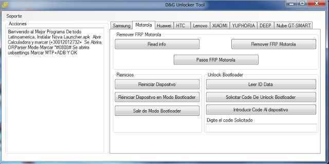 D&G (DG) Unlocker Tools All FRP Lock Bypass