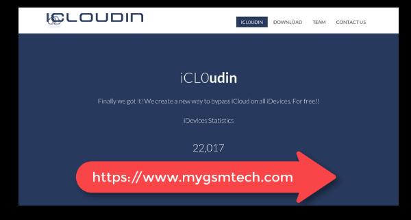 iCloudin iCloud Unlock Tool